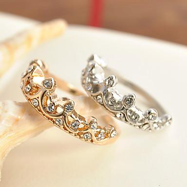 Damskie Cyrkon Stop Pierscionek - Księżniczka Klasyczny Gold Silver Pierścień Na Ślub Impreza Specjalne okazje Impreza / bal Codzienny