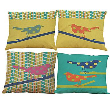 4.0 szt Bielizna Naturalne / ekologiczne Poszewka na poduszkę Pokrywa Pillow, Jendolity kolor Textured Styl plażowy Tradycyjny / Classic