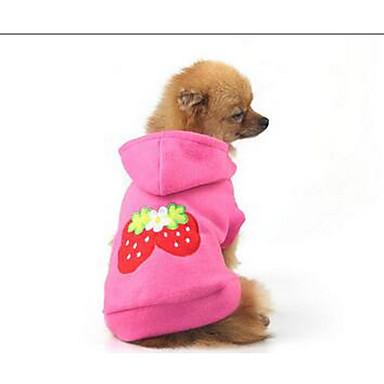 Câine Haine Îmbrăcăminte Câini Draguț Solid Roz Costume Pentru animale de companie