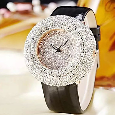 Kadın's Moda Saat Quartz Deri Bant Günlük Beyaz