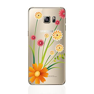 tok Για Samsung Galaxy S7 edge S7 Διαφανής Με σχέδια Πίσω Κάλυμμα Λουλούδι Μαλακή TPU για S7 edge S7 S6 edge plus S6 edge S6 S5 S4