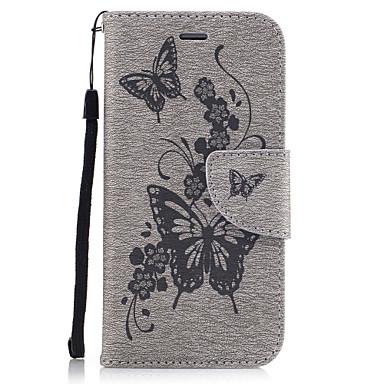 tok Για Apple iPhone X iPhone 8 Θήκη καρτών Πορτοφόλι με βάση στήριξης Ανοιγόμενη Με σχέδια Ανάγλυφη Πλήρης Θήκη Πεταλούδα Σκληρή PU δέρμα