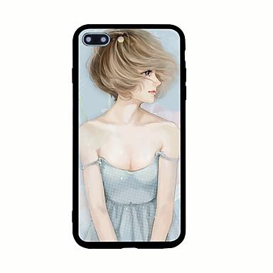 Pentru Model Maska Carcasă Spate Maska Femeie Sexy Greu Acrilic pentru AppleiPhone 7 Plus iPhone 7 iPhone 6s Plus iPhone 6 Plus iPhone 6s