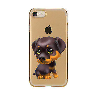 Kılıf Na Apple iPhone 7 Plus iPhone 7 Przezroczyste Wzór Czarne etui Pies Miękkie TPU na iPhone 7 Plus iPhone 7 iPhone 6s Plus iPhone 6s