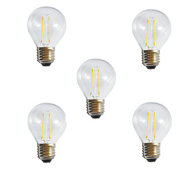 2W E26/E27 LED-gloeilampen A60 (A19) 2 leds Krachtige LED Decoratief Warm wit Koel wit 3000/6500lm 3000K/6500KK AC 220-240V
