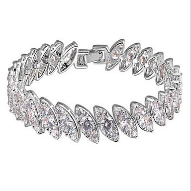 Γυναικεία Βραχιόλια με Αλυσίδα & Κούμπωμα Πολυτέλεια Φύση Μοντέρνα Κρύσταλλο Ζιρκονίτης Cubic Zirconia Ρητίνη Κυκλικό Κοσμήματα Πάρτι