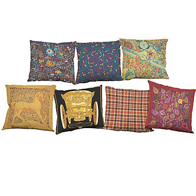 7 szt Bielizna Pokrywa Pillow Poszewka na poduszkę,Słowa i cytaty Stały Nowość Textured WildlifeWałek Styl plażowy Modern / Contemporary