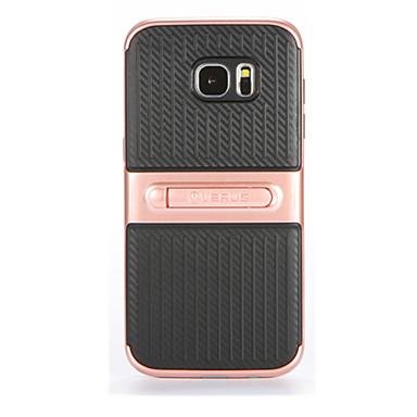 tok Για Samsung Galaxy S7 edge S7 με βάση στήριξης Πίσω Κάλυμμα Συμπαγές Χρώμα Μαλακή PC για S7 edge S7