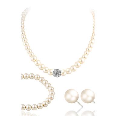Seturi de bijuterii Ștras Lux Nuntă Petrecere Casual Perle Imitație de Perle Ștras Diamante Artificiale 1 Colier 1 Pereche de Cercei 1