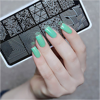 Born Pretty Nail Art Stamp Stamping Template Image Plate Stencil