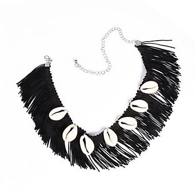 Damskie Naszyjniki choker Biżuteria Biżuteria Porcelanka Nylon Muszla Stop Modny Postarzane Osobiste euroamerykańskiej Europejski Black