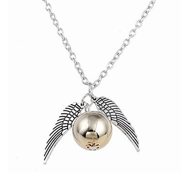 للرجال للمرأة Bowknot Shape قلائد الحلي - تصميم دائري تصميم فريد ستايل الشعار Bowknot Shape ذهبي قلادة من أجل