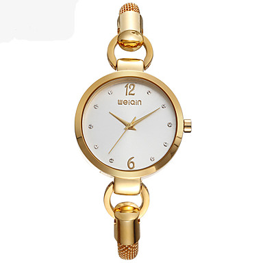 Moda Saat Quartz Alaşım Bant Altın Rengi Gül Altın Altın Gül Altın