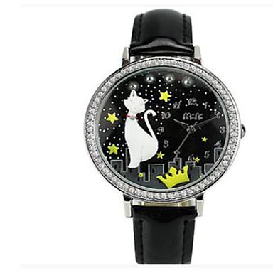Kadın's Moda Saat Quartz / Deri Bant Günlük Siyah