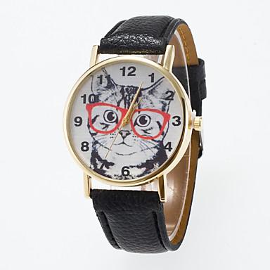 Erkek Spor Saat Elbise Saat Moda Saat Bilek Saati Quartz Büyük Kadran Gerçek Deri Bant İhtişam Çok-Renkli
