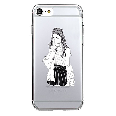 Για Θήκες Καλύμματα Εξαιρετικά λεπτή Διαφανής Πίσω Κάλυμμα tok Σέξι κυρία Μαλακή TPU για Apple iPhone 7 Plus iPhone 7 iPhone 6s Plus