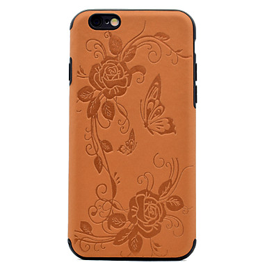 Pentru Model Maska Carcasă Spate Maska Floare Fluture Moale TPU pentru AppleiPhone 7 Plus iPhone 7 iPhone 6s Plus iPhone 6 Plus iPhone 6s