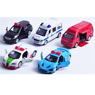 لعبة سيارات Playsets السيارة سيارة سباق سيارة الشرطة ألعاب سيارة سبيكة معدنية بلاستيك معدن كلاسيكي & خالد أنيقة & حديثة 1 قطع الأطفال