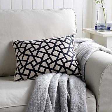 1 adet Linen Parçalı Yastık,Süslü ve Nakışlı Geometrik Geleneksel/Klasik
