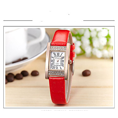 Pentru femei Simulat Diamant Ceas Ceas La Modă Quartz cald Vânzare Piele Bandă Casual Negru Alb Albastru Roșu Gri Violet