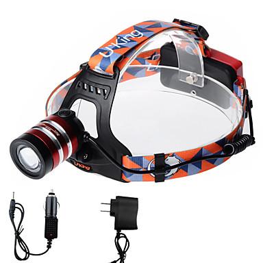 U'King Czołówki Reflektor LED 2000 lm 3 Tryb Cree XM-L T6 z ładowarkami Zoomable Regulacja promienia Łatwe przenoszenie High Power