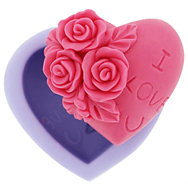 ψήσιμο Mold Λουλούδι Καρδιά για Candy Πάγος Σοκολατί Κέικ Σιλικόνη Φτιάξτο Μόνος Σου Υψηλή ποιότητα 3D Αντικολλητικό