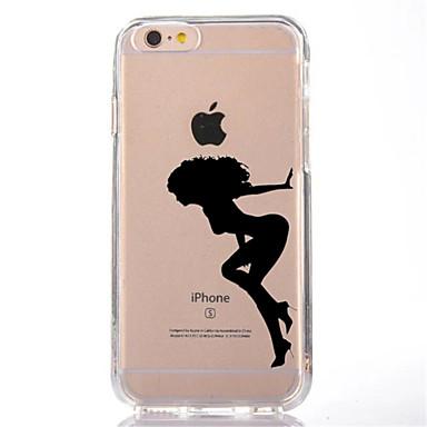 Için Şeffaf Temalı Pouzdro Arka Kılıf Pouzdro Seksi Kadın Yumuşak TPU için AppleiPhone 7 Plus iPhone 7 iPhone 6s Plus iPhone 6 Plus