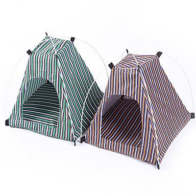 Pisici Câine Cort Pliabil Cort Verde Galben Material Textil
