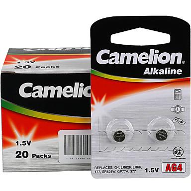 κουμπί CAMELION AG3 κέρμα των κυττάρων 1.5V αλκαλικές μπαταρίες 100 πακέτο