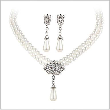 Zestawy biżuterii Kryształ Luksusowy Ślubny Ślub Impreza Codzienny Casual Perłowy Imitacja pereł Kryształ górski Imitacja diamentu Stop 1