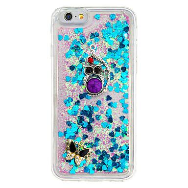 Için Taşlı Kendin-Yap Pouzdro Arka Kılıf Pouzdro Baykuş Yumuşak TPU için AppleiPhone 7 Plus iPhone 7 iPhone 6s Plus/6 Plus iPhone 6s/6