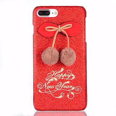 Pouzdro Uyumluluk Apple iPhone 7 Plus iPhone 7 Kendin-Yap Arka Kapak Işıltılı Parlak Sert PC için iPhone 7 Plus iPhone 7 iPhone 6s Plus