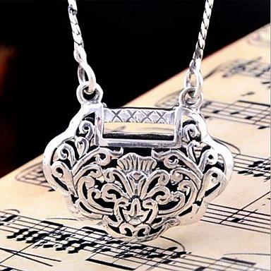 Uçlu Kolyeler Mücevher Geometric Shape Som Gümüş Wzór geometryczny Sallantılı Stil Moda Mücevher Uyumluluk Doğumgünü Günlük Yılbaşı