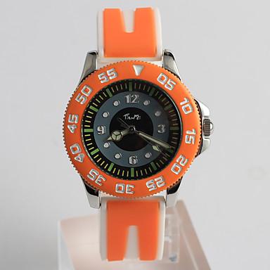 pentru Doamne Ceas La Modă Quartz / Silicon Bandă Desene Animate Casual Orange Portocaliu