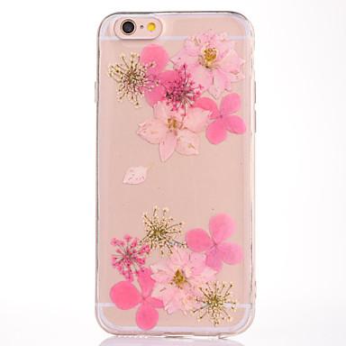 Για IMD Ανάγλυφη Με σχέδια tok Πίσω Κάλυμμα tok Λουλούδι Μαλακή TPU για Apple iPhone 7 Plus iPhone 7 iPhone 6s Plus/6 Plus iPhone 6s/6