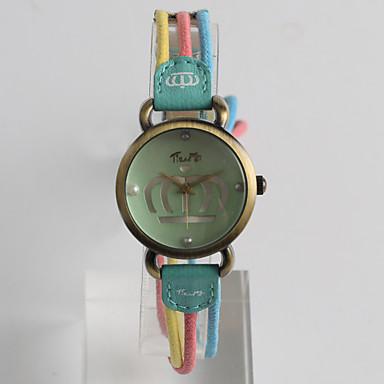 Moda Saat Quartz / Kumaş Bant Eski Tip Günlük Yeşil Çok-Renkli Omuz Yeşil