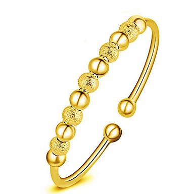 للمرأة أساور اصفاد موضة تصفيح بطلاء الفضة مطلية بالذهب 18K الذهب سبيكة دائري مجوهرات هدايا عيد الميلاد حزب الذكرى السنوية عيد ميلاد هدية