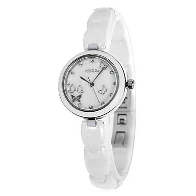 Bayanların Elbise Saat Moda Saat Quartz Alaşım Bant Beyaz