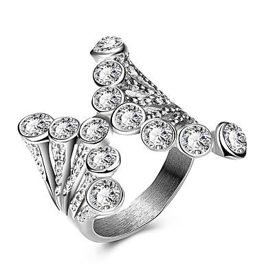 Γυναικεία Βέρες Εντυπωσιακά Δαχτυλίδια Δαχτυλίδι Μοναδικό Μοντέρνα Πανκ Στυλ Εξατομικευόμενο Χιπ-Χοπ Euramerican Κρύσταλλο Τιτάνιο Ατσάλι