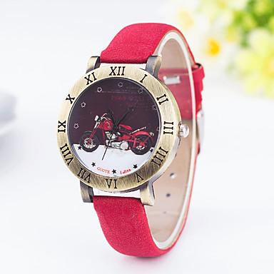 Erkek Kadın's Moda Saat Quartz PU Bant İhtişam Siyah Mavi Kırmızı Kahverengi Yeşil Mor Donanma