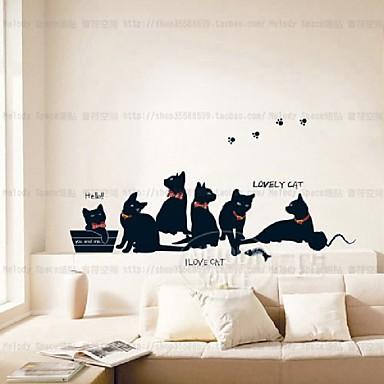Ζώα Μόδα Αναψυχή Αυτοκολλητα ΤΟΙΧΟΥ Αεροπλάνα Αυτοκόλλητα Τοίχου Διακοσμητικά αυτοκόλλητα τοίχου, Χαρτί Αρχική Διακόσμηση Wall Decal
