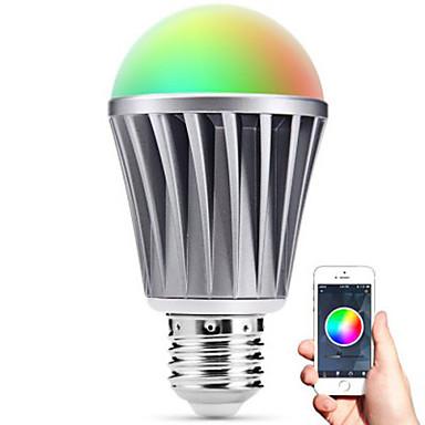 Smart johti E27 lamppu bluetooth 4.0 RGBW valo vesitiiviyden / himmennettävä / ajoitus / app kaukosäädin / nukkuminen mielialan lamppu /
