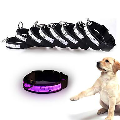 كلب ياقة أضواء LED قابل للسحبقابل للتعديل عاكس البطاريات وشملت /كهربائيإلكتروني ضوء صاعق الأمان سادة البولكا النقاط كارتون بلاستيك نايلون
