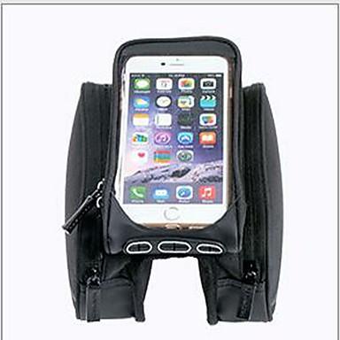 حقيبة دراجة الإطار حقيبة الهاتف الخليوي 5.7 بوصة سريع جاف يمكن ارتداؤها مقاومة الهزة الشاشات التي تعمل باللمس ركوب الدراجة إلى Samsung