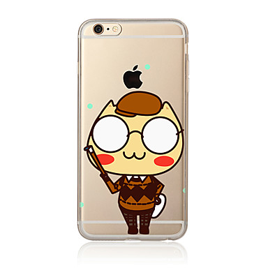 Na Przezroczyste Wzór Kılıf Etui na tył Kılıf Kreskówka Miękkie TPU na AppleiPhone 7 Plus iPhone 7 iPhone 6s Plus/6 Plus iPhone 6s/6