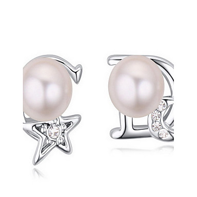Dame Cercei Stud Cristal Perle Natură Cristal Austriac Aliaj Star Shape Cross Shape lună Bijuterii Pentru Zilnic