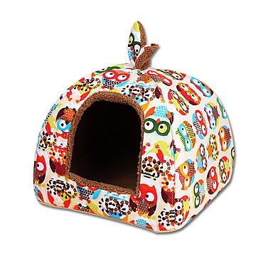 Gato Cachorro Camas Animais de Estimação Capachos e Alcochoadas Desenho Animado Casual Azul Rosa claro Arco-Íris Para animais de estimação