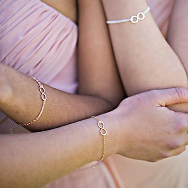 Βραχιόλια με Αλυσίδα & Κούμπωμα - Μποέμ ταινία Κοσμήματα Χειροποίητο Άπειρο Χρυσό Ασημί Βραχιόλια Για Χριστουγεννιάτικα δώρα Γάμου Πάρτι