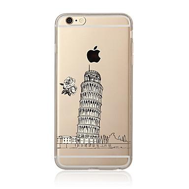 Kılıf Na Apple iPhone 7 Plus iPhone 7 Przezroczyste Wzór Czarne etui Widok miasta Miękkie TPU na iPhone 7 Plus iPhone 7 iPhone 6s Plus
