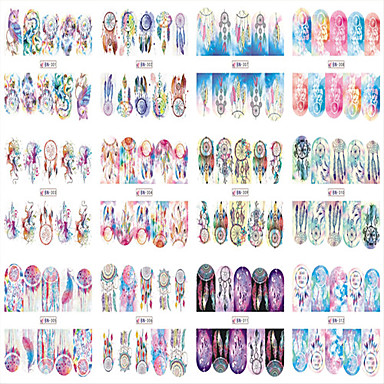 1pcs 12 design Naklejka na wodę Szablon tłoczenia paznokci Codzienny Modny Wysoka jakość